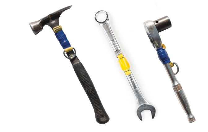 Fall Protection for tools - Two Step Tool Attachment